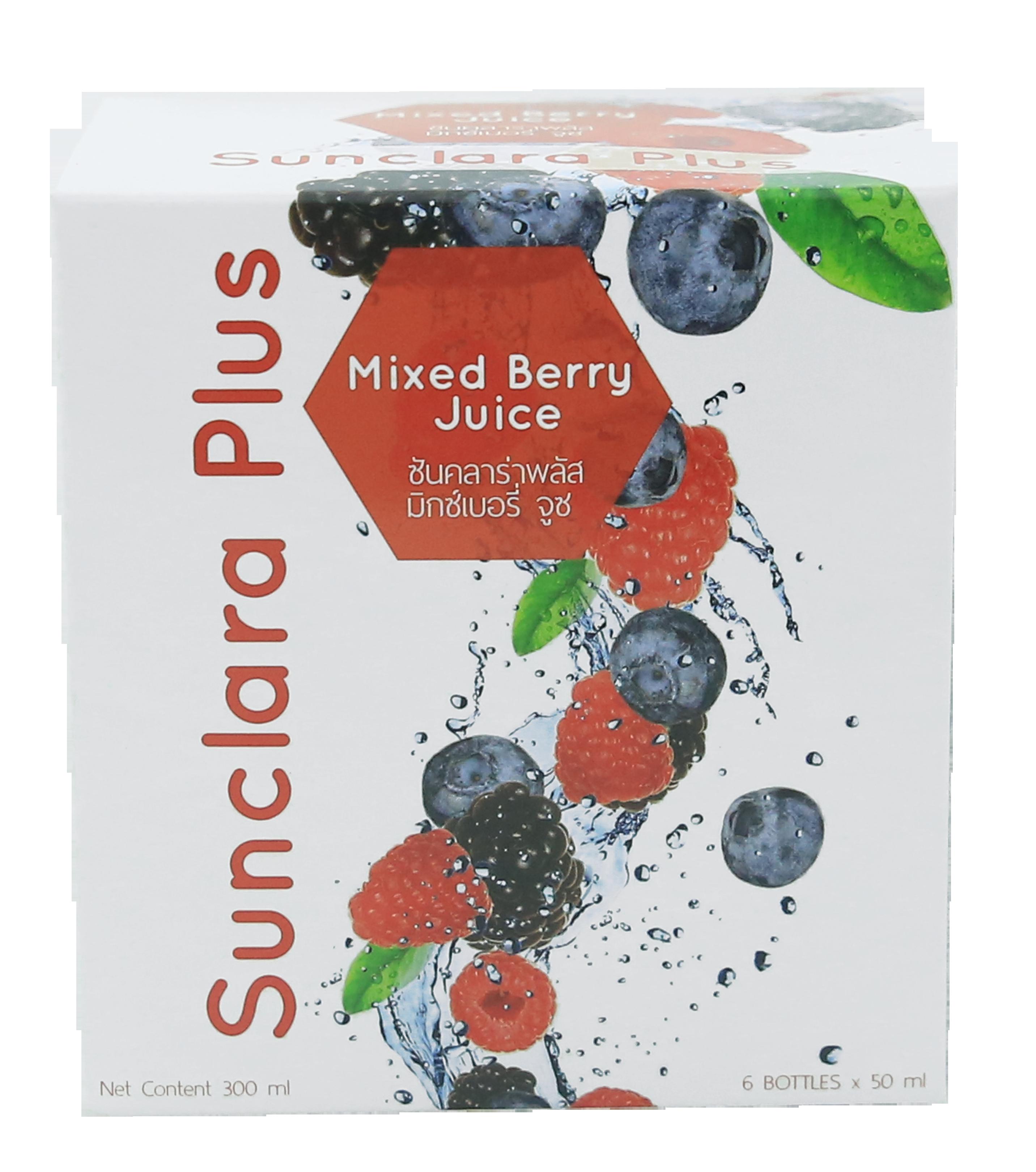 Sunclara Plus Mixed Berry Juice , ซันคลาร่าพลัส มิกซ์เบอรี่ จูซ